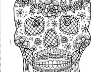 Coloring for adults: Skull