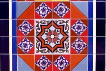 Hand Painted Pattern Tiles / Custom decorative uses of pattern tile.