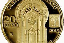 Cod. 274: dittico in oro da €20 e €50 proof: Faetano e Montegiardino