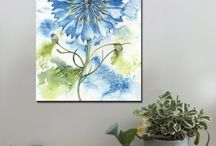 Flowers / Canvas art prints, A1 and A2  www.splashyartystory.com