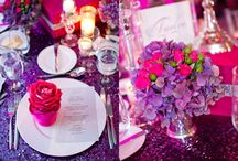 Purple/Pink Decors / Cake/Stationary/Flowers/etc