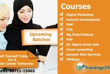 Trainings24x7 Courses / we provides Classroom training,online classes,e-Learning Modules & practice tests for PMP,ITIL,Six Sigma,VMware,Android,Cloud Computing,Digital Marketing,Hadoop or AWS http://trainings24x7.com/courses/