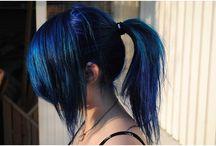 μαλλια  μπλε