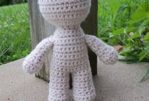 Boys crochet doll