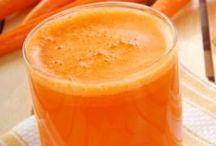sucos de cenoura