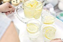 Getränke und Sirup