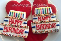Decorated Birthday Cookies