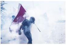 """Projeto Exposição """"OcupaMuros"""" - Junho: Imagens de um mês que não terminou."""