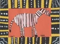 zebry, žirafy, lvi