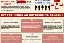 INFOGRAPHICS / Infographics about business outsourcing services.