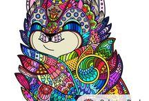 Раскраски для взрослых / Мои работы