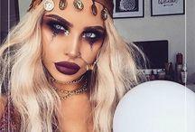 disfraz y maquillaje de carnaval