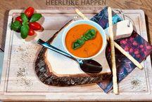 Soepen / Mijn collectie soepen, waarvan je de recepten kunt vinden op https://heerlijkehappen.nl