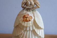 Sea shell dolls