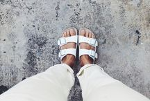 Take on the Trend::Birkenstocks SS2014 / Birkenstocks are BACK! Take on the trend with some creative think-outside-the-box looks! As if we needed an excuse to revive these comfortable creatures for our feet!  / by Desiree Durso