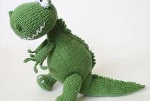 green dinosour