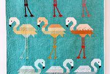 Flamingos quilt