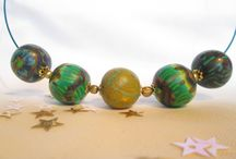 des perles, des perles, des perles / création de bijoux en pâte polymère