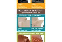 Möbel  : SOFA : Couch : tom und sherry / Die bunte Welt der Vielfalt: Wählen Sie Sofarücken, Sitzkomfort, Armteil, Design.