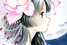 black-hair girl image