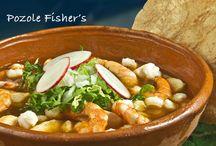 Sopas / Platillos de la carta de la cadena de restaurantes Grupo Fisher's en la república de México