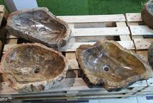 Petrified wood sinks - fossil wash basin / Petrified wood sinks - fossil wash basin for sale. Lux4home™ is petrified wood sink manufacturer - exporter. Each petrified wood vessel sink is unique in its shape, size and colour shades. Petrified wood is the name given to a special type of fossilized remains of trees. Available sizes petrified wood basins from 30 cm - 120 cm. We are looking for importers, distributors, interior designers in your country… .