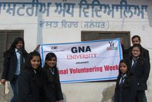 CLOTHES DISTRIBUTION ACTIVITY / GNAUniversity in association with Yi Students' Net conducted the second and third phase of Clothes distribution in Jalandhar city and Phuglana village respectively. The distribution was done in Andh Ashram and Pingla Ghar in Jalandhar City and Jhuggis of Phuglana Village. The students of GNA University contributed for the noble cause with complete dedication and enthusiasm.