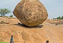 természeti jelenségek, / ingó kövek, vízesések, földgolyó,