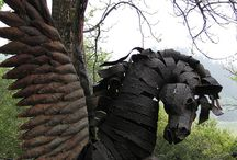 Garden Art ~ Metal ~ Animals / by Kathy Young