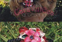 flores de laca de uñas
