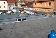 Rekonstrukce ploché střechy v Roháčové ulici v Praze