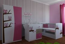 Nursery bedroom. Pink and blue nursery bedroom. Baby furniture. / Nursery bedroom for girls. Pink nursery bedroom. Baby furniture. Pink furniture. Owl kids' furniture. #nurserybedroom #pink #kidsfurniture