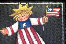 Feelin' Patriotic / God Bless America! / by Barb's Heartstrokes