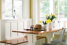 Kitchen / Ideas for our kitchen renovation. I love a farmhouse style. We love to DIY and work on things ourselves!