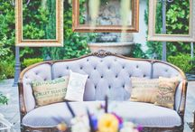 // vintage furniture wedding