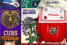 Athletic Jackets / Stitch Witch custom makes Athletic Jackets to fit you just right, then we embroider your mascot, and any other sport or organization emblems you would like.  Next step is to stitch on all your High School letters and any other patches you receive.  Get yours early enough in your High School years to enjoy it on those cold nights at the football stadium.   Show your school colors.