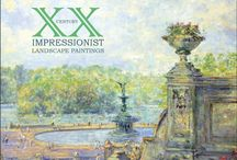 20th Century Impressionist Landscape Paintings / works by contemporary artists Charles Neal and Isabelle de Ganay