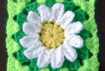 crochet grannysquare and blanket