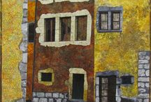 buildings in quilts