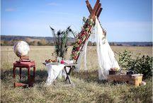 Shooting inspiration Vintage Bohemian / Robe de mariée courte , robe de mariée longue . Crop top et jupe en tulle .