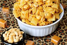 Chex Mix Recipes / Look at these tiny grain patties. They're woven. That's craftsmanship....