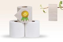 Bruin wc papier; het nieuwe wit