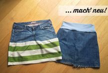 Upcycling rock / Rock aus jeans