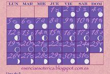 Calendario Lunar Esencia Esotérica / Aquí iré subiendo los calendarios lunares del blog La Esencia Esotérica.