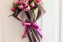 Cadeaus met bloemen