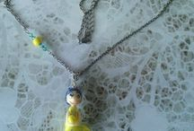 collier figurine fimo