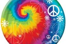 Tie Dye Peace Sign Party Decorations and Ideas / Have a fabulous tie dye peace sign party with these great 60s theme party decorations. We have searched through many boards to bring you the grooviest 60's peace sign party decorations out there. We have over 100 tie dye peace sign 60's party items, and have added our favorite peace sign 60's party supplies to the board.