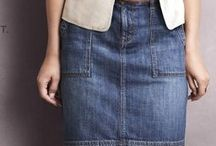 Denim Skirts - long, short or midi / All kinds of fab denim skirts (jean skirts)