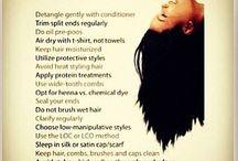 Natural hair hacks