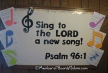 Music Bulletin boards and decorating